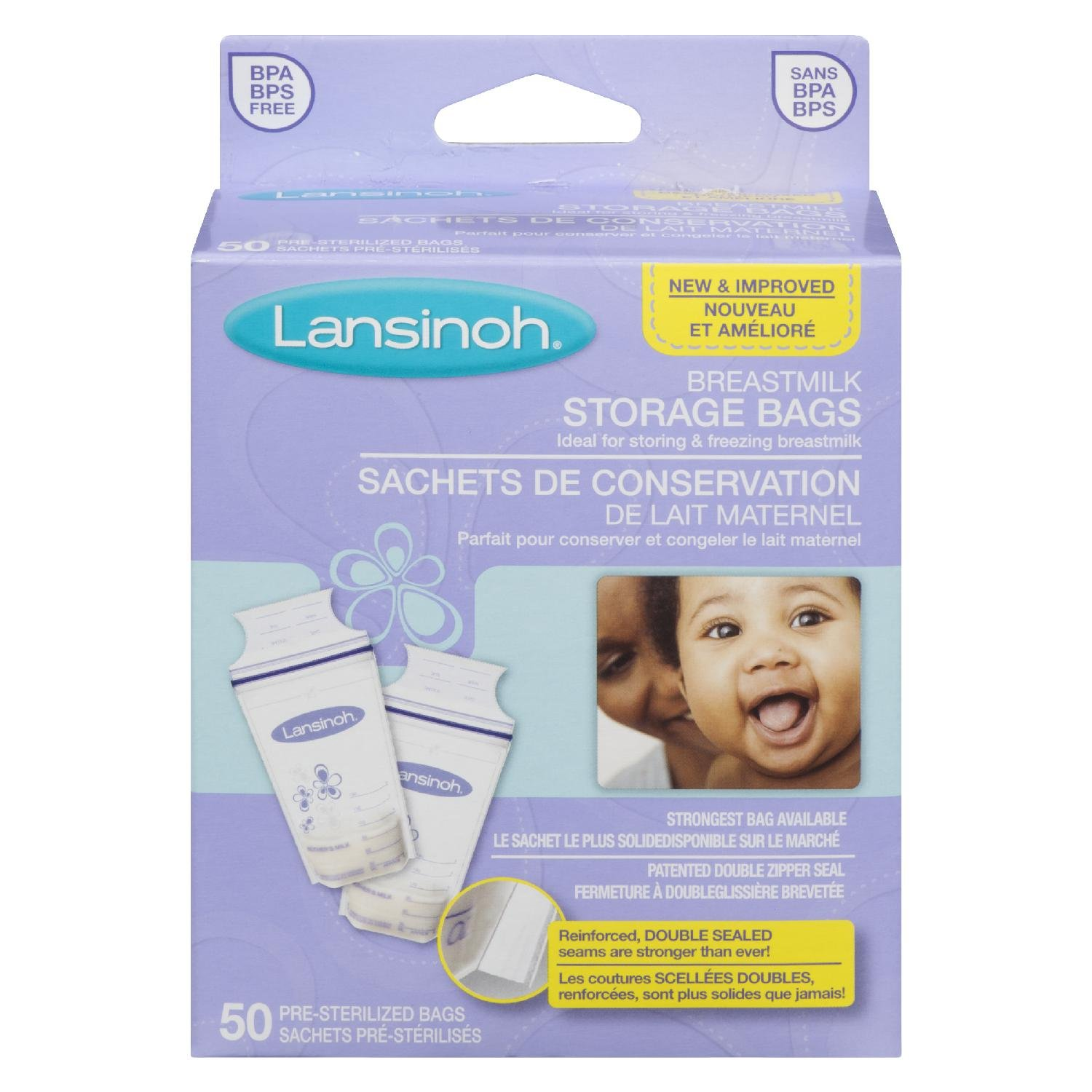 Lansinoh Breastmilk Storage Bags – Pack of 50 ANB 044677204569