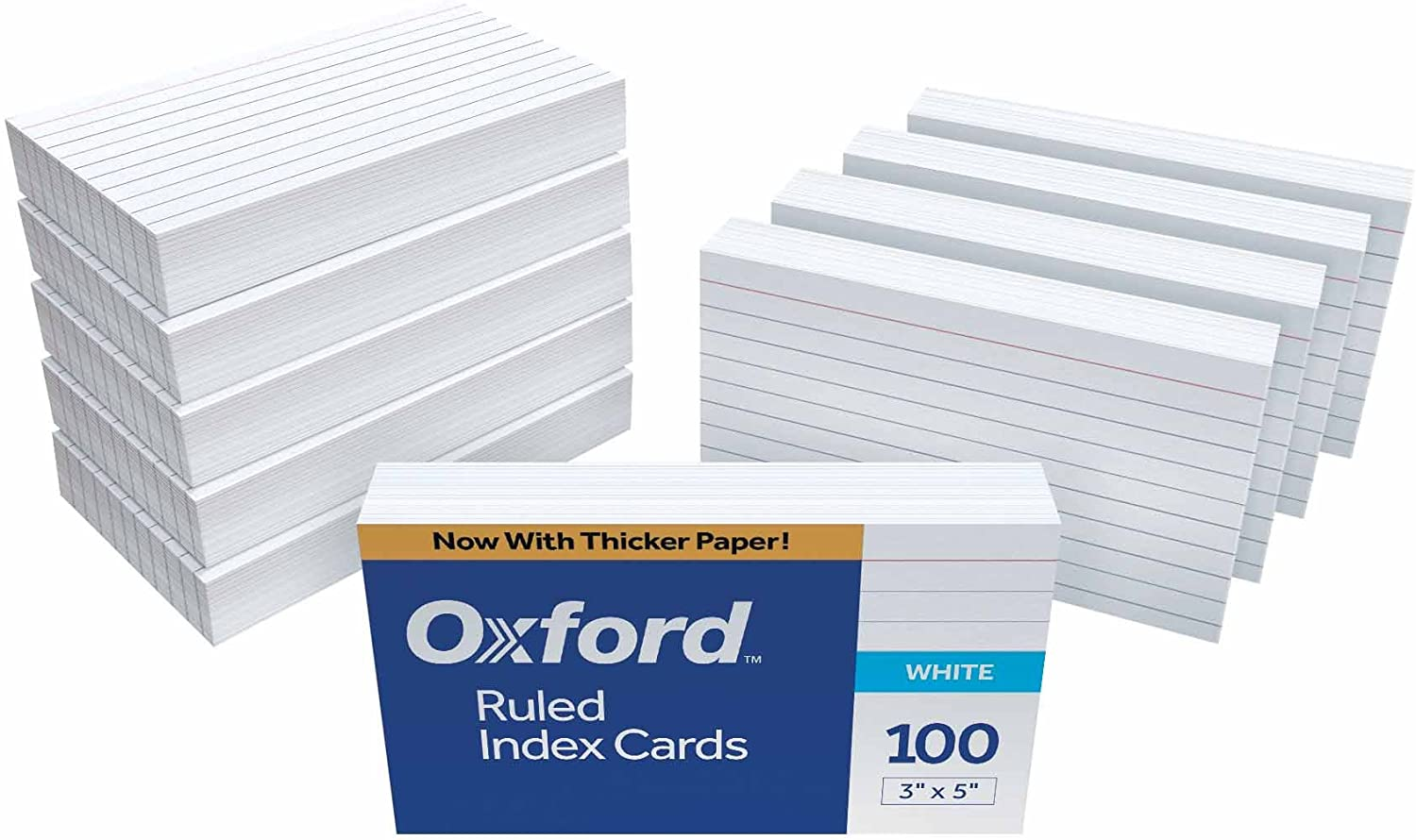 """Oxford Ruled Index Cards, 3"""" x 5"""", White, 1,000 Cards (10 Packs of 100) (31): Office Products"""