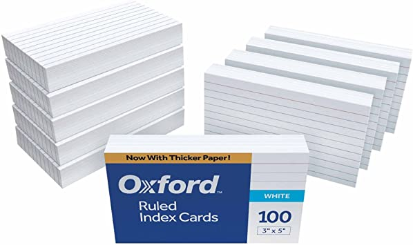 Amazon.com : Oxford Ruled Index Cards, 3