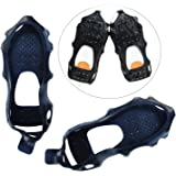 Ice Grips, 24 Teeth Large Size Anti Slip Crampon Spikes Ice Snow Gripper Traction Cleats for Boots and Shoe Ice Cleats