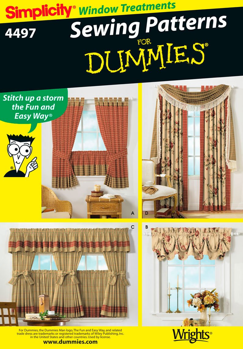 Amazon.com: Simplicity Sewing Pattern 4497 Home Decorating, One Size: Arts,  Crafts U0026 Sewing