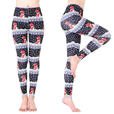 2dc2935d3c10c Sansee Women Santa Claus Sports Gym Yoga Running Fitness Leggings Pants  Slim Fit Athletic Trouse: Amazon.co.uk: Clothing