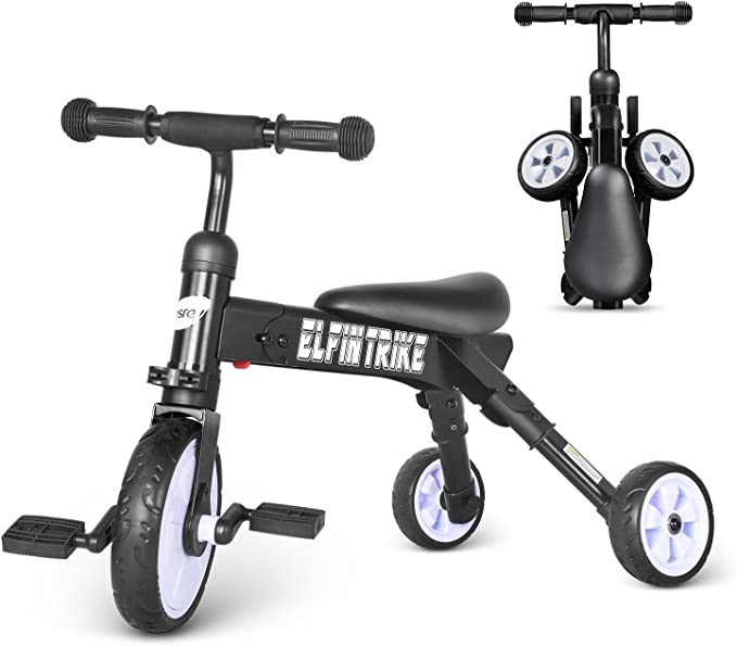 Besrey BR-C7076 - Triciclo plegable 3 en 1, negro: Amazon.es: Juguetes y juegos