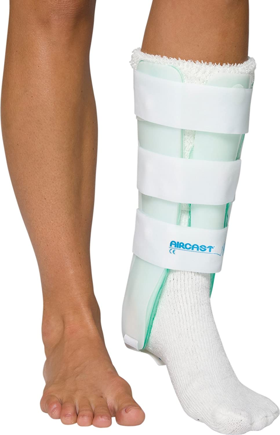 Amazon Com Aircast Leg Support Brace With And Without Anterior Panel Sports Outdoors