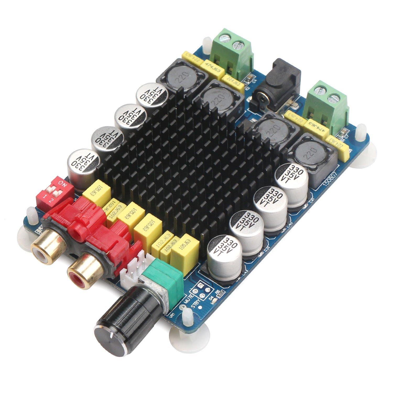 Drok Tda7498 2x100w Dual Channel Class D Audio Amplifier Tv Signal 470mhz860mhz Amplifiercircuit Circuit Board Dc 24v Digital Stereo Power Amp Module For 8 Subwoofer Computer Speaker