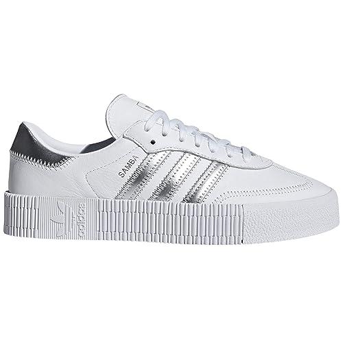 3691ecf60b6 Adidas Original Samba Blanca y Negra. Zapatillas para Mujer con Plataforma.  Deportivas. Sneaker.  Amazon.es  Zapatos y complementos