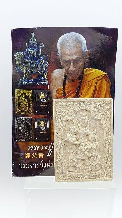 Amulet Magic Clairvoyan Eyes Spell Pendant LP Nen Kaew Charm Thai Luck Money