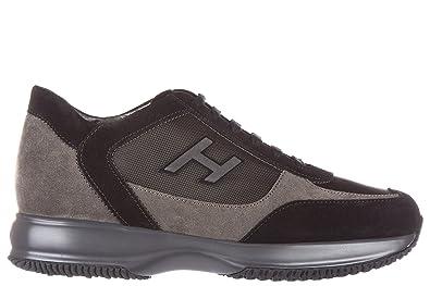 Chaussures baskets sneakers homme en daim interactive h flock etichetta Hogan 03YEBL