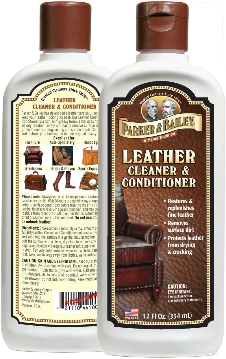 Parker & Bailey Leather Cleaner & Conditioner 12 Fl. Oz.