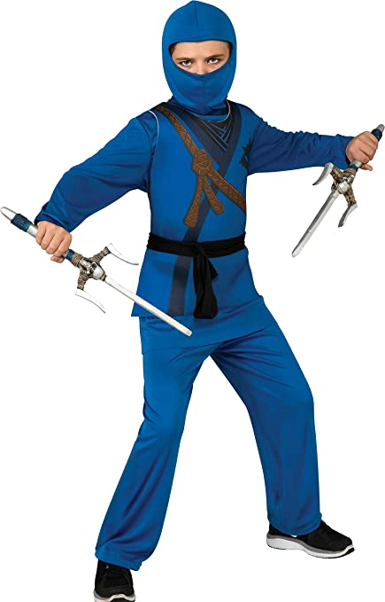 Rubies Ninja Childs Costume, Blue, Medium