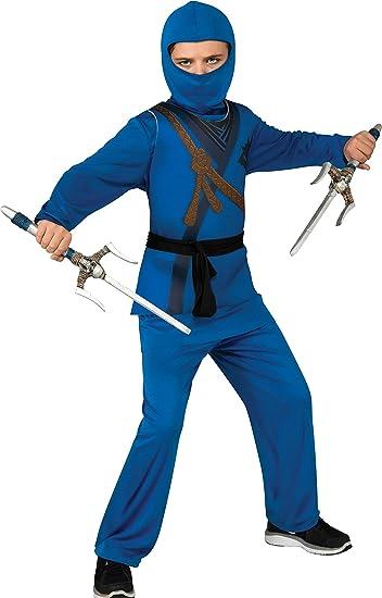Amazon.com: Disfraz de ninja, S, Azul: Toys & Games