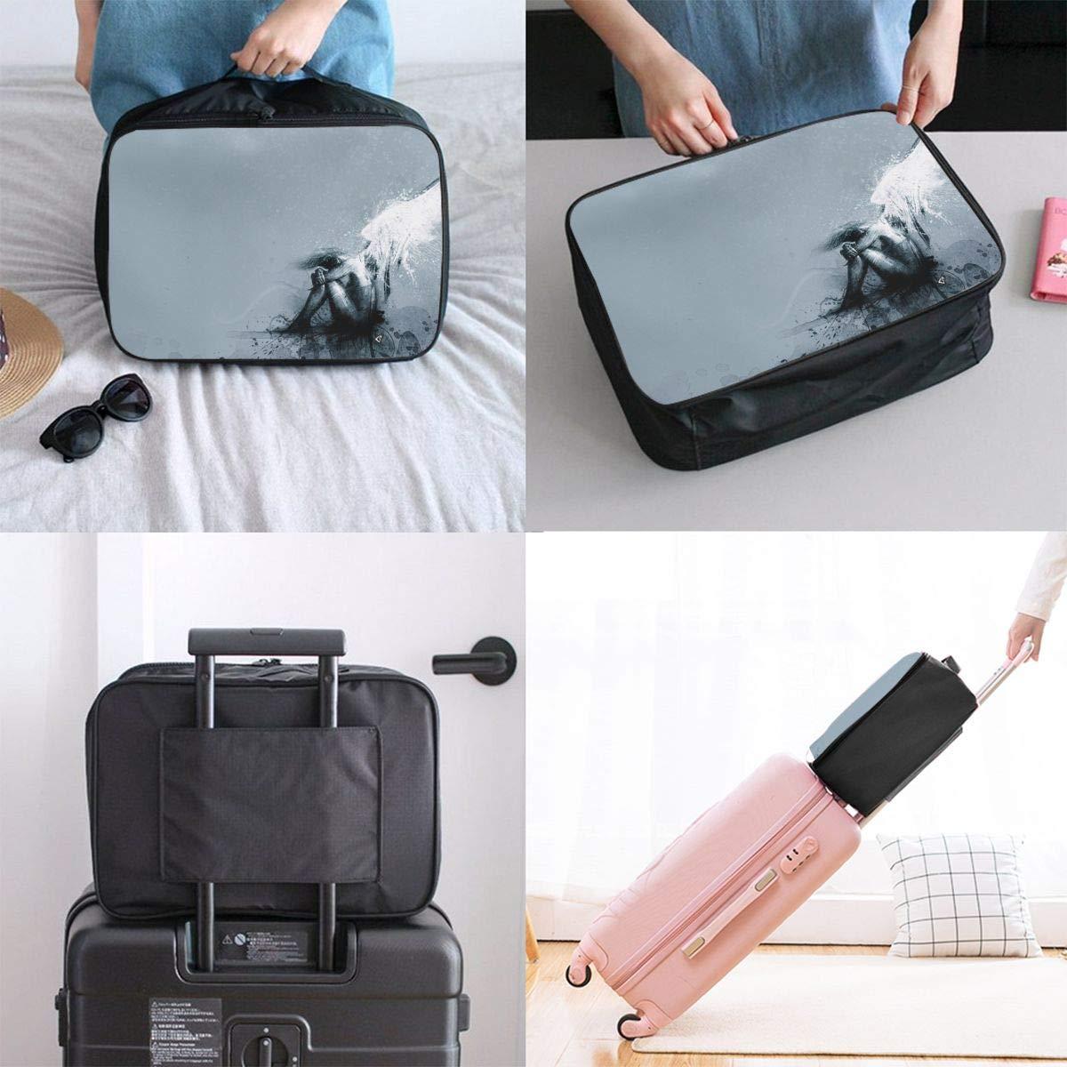 Travel Luggage Duffle Bag Lightweight Portable Handbag Fantasy Man With Wings Large Capacity Waterproof Foldable Storage Tote