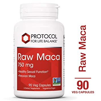 Protocol For Life Balance - Raw Maca 750mg - Supports Healthy Sexual Function, Energy Boost