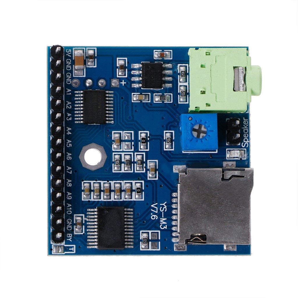 Qupida MP3 Voice Module SD/TF Voice Broadcast Trigger Player + Speaker F MCU SCM UI