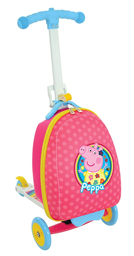 Amazon.com: Peppa Pig M14710 Scootin Suitcase Peppa Scooter ...