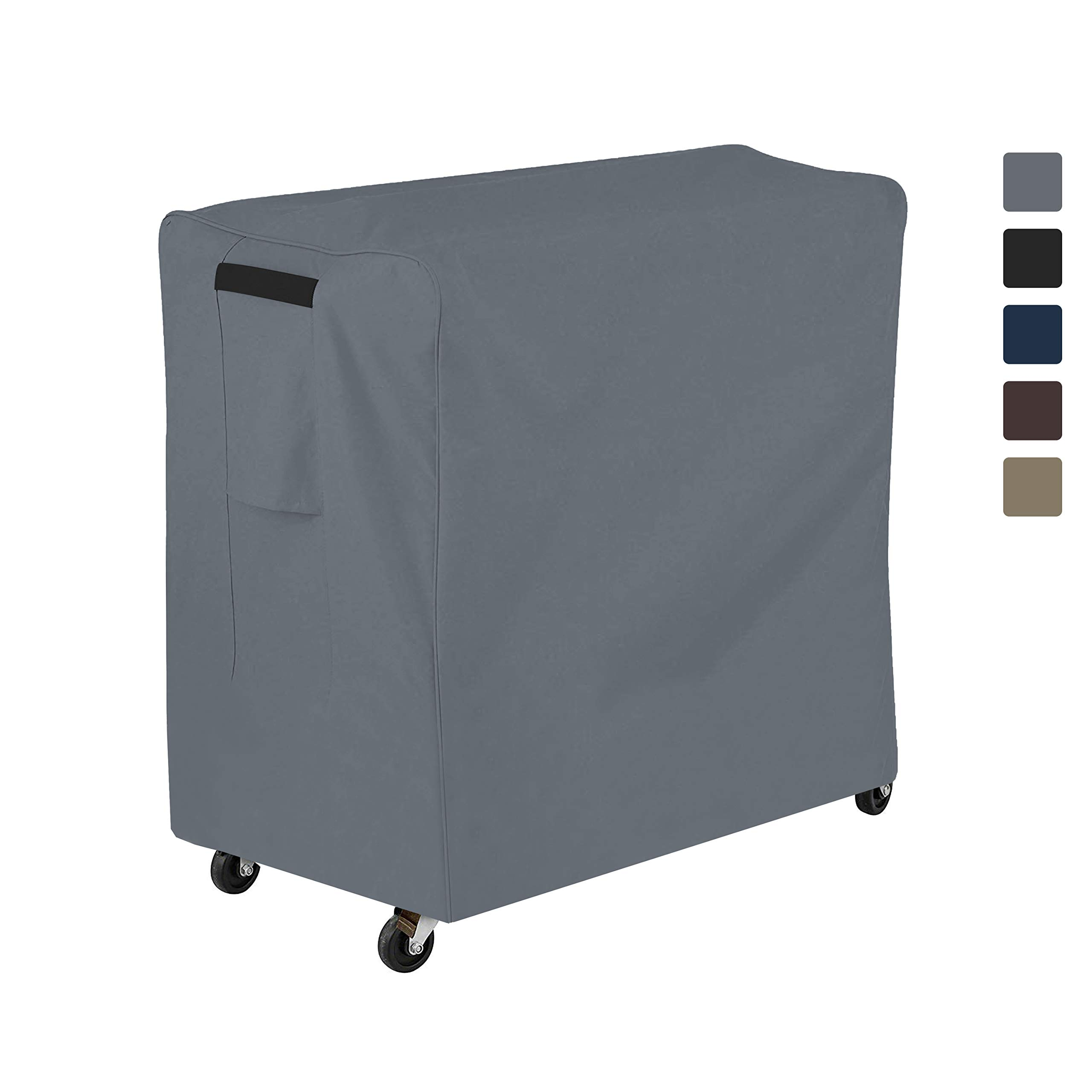 COVERS & ALL Cooler Cover 12 Oz Waterproof - Rolling Cooler Cart Cover 100% UV & Weather Resistant with Air Pocket and Drawstring for Snug Fit (36'' H x 44'' W x 24'' D, Grey) by COVERS & ALL