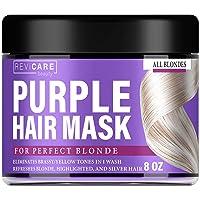 Purple Hair Mask - Hair Toner w/Avocado Oil, Retinol & Silk Protein for Blonde Hair...