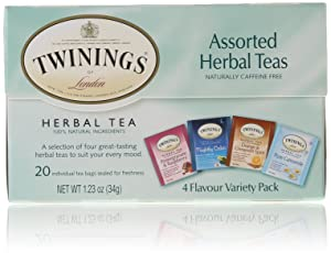 Twinings of London Assorted Herbal Tea Bags, 20 Count