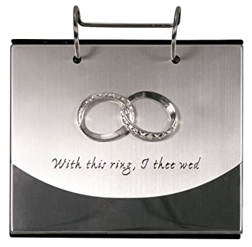 malden international designs wedding rings with this ring i thee wed flip album picture frame - With This Ring I Thee Wed