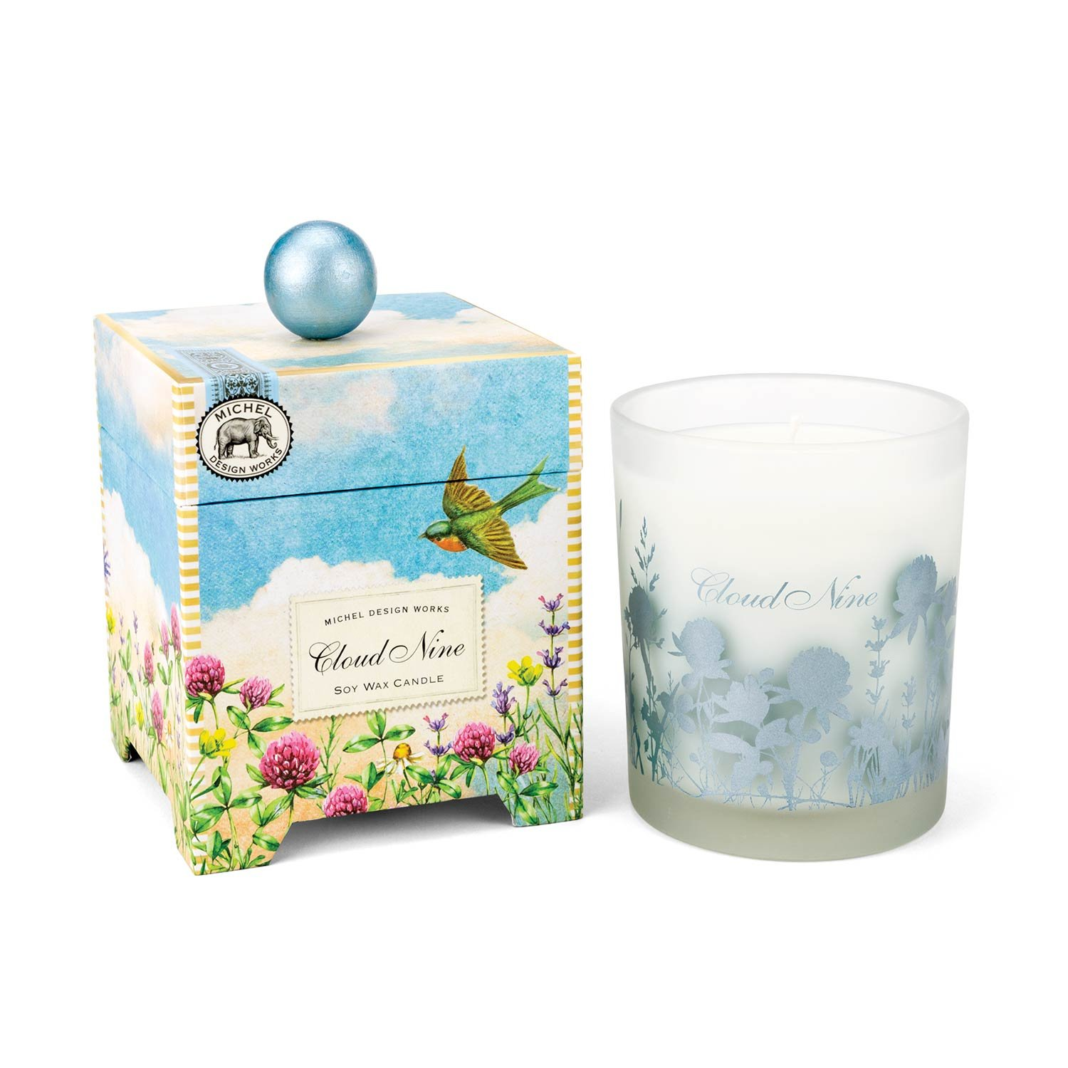 Michel Design Works Gift Boxed Soy Wax Candle, 14-Ounce, Cloud Nine