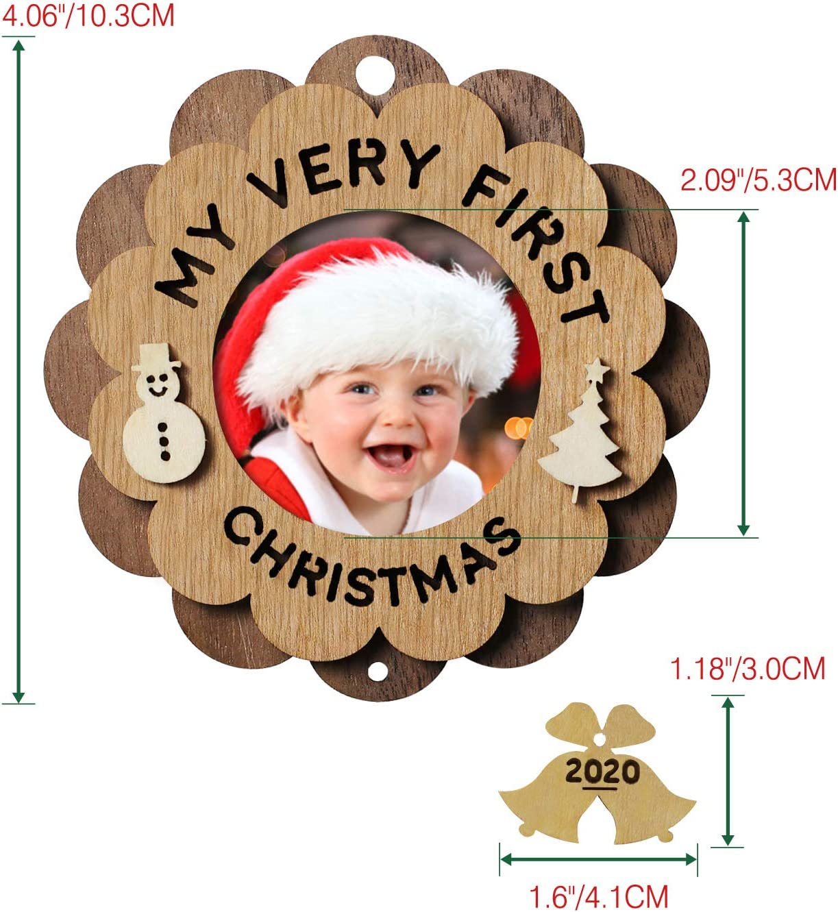 2020 First Christmas Picture Frame Amazon.com: Creawoo My Very First Christmas Ornament Picture Frame