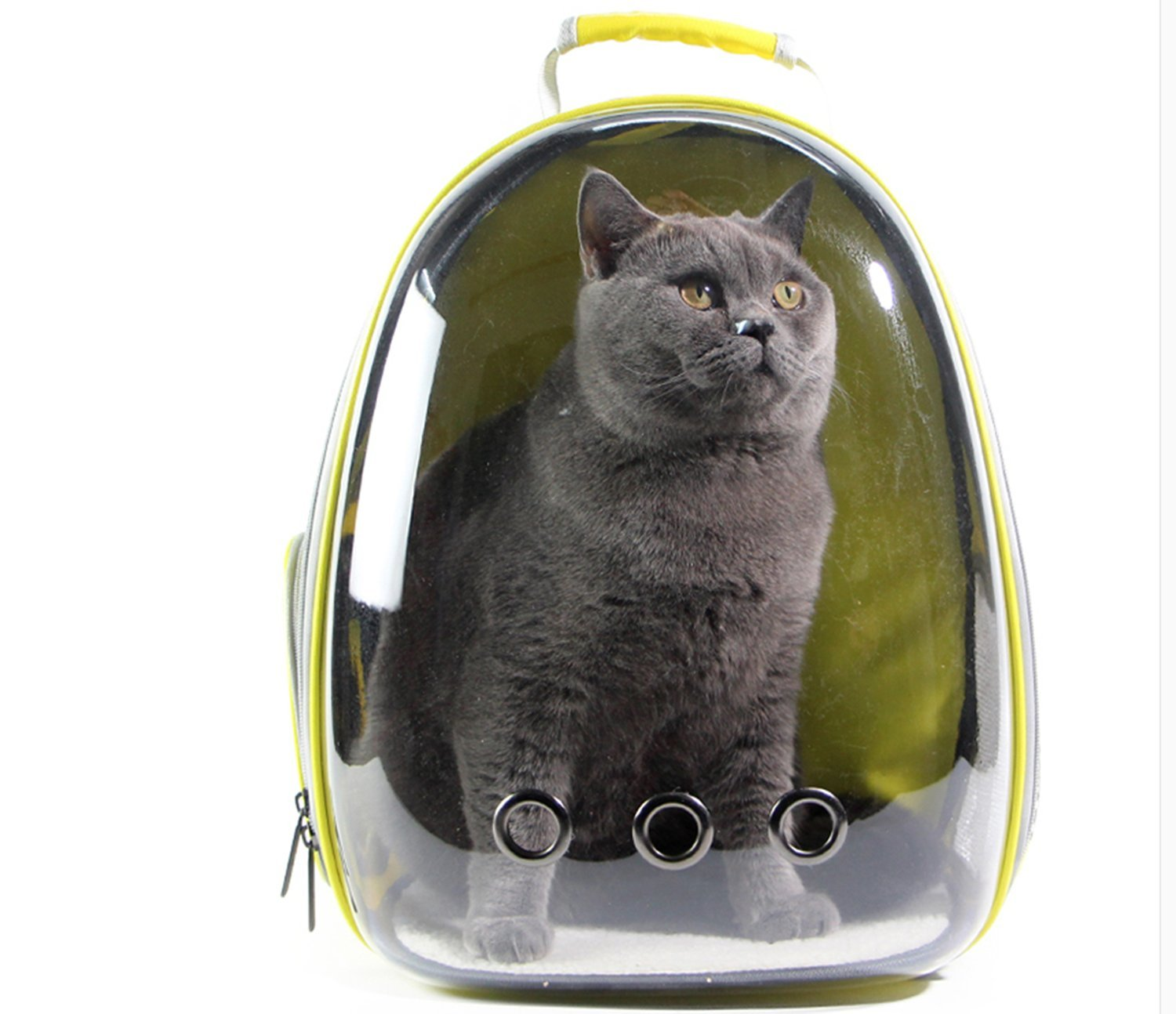 ZGUO Transparent Breathable Pet Travel Backpack Space Capsule Carrier Bag Hiking Bubble Backpack for Cat & Dog Puppy
