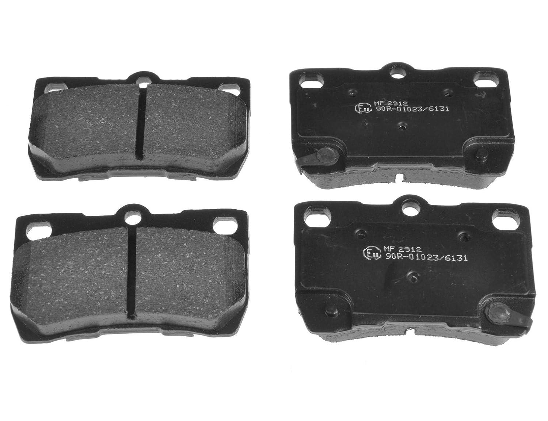 Blue Print ADT342156 Bremsbelagsatz hinten, 4 Bremsbel/äge
