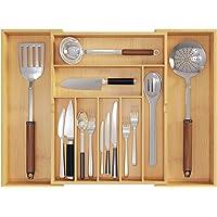 K/üchenschubladen-Organizer f/ür Besteck Besteck Classic Large Silverware Tray L/öffel Bestecktrennung Finishing Aufbewahrungsbox Besteck-Organizer