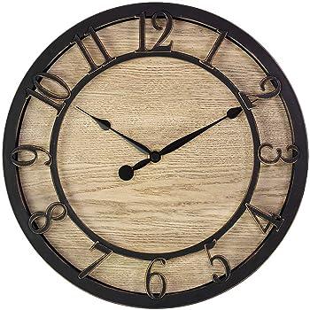 PresenTime & Co 10-Inch Modern Wall Clock