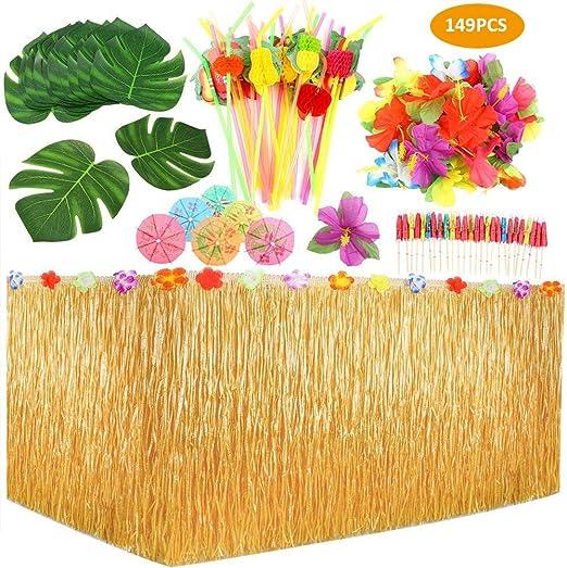 RecoverLOVE Juego de decoración de Fiesta Tropical, 149 Piezas, 9 ...