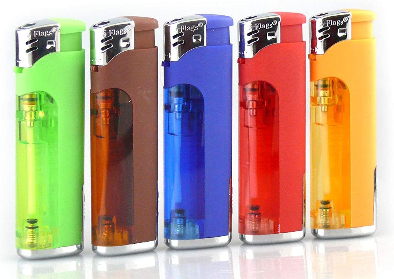4 PACK ELECTRONIC REFILLABLE LIGHTERS GOOD QUALITY
