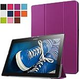 ERLI Lenovo Tab 2 X30F A10-30 Funda, Ultra delgado Smart Funda Carcasa con Stand Función y Auto-Sueño/Estela para Lenovo Tab 2 X30F A10-30 Android Tablet pulgadas (Púrpura)