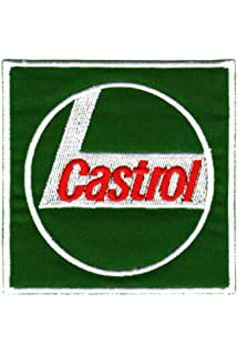 Racing Sponsors CASTROL Patches Aufn/äher Aufb/ügler 3 St/ück Auto Motorrad Motoren/öl Motorsport
