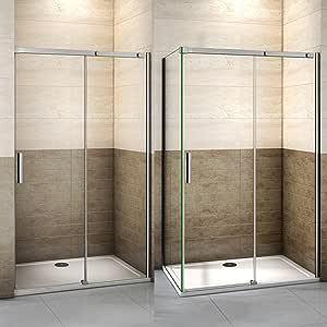 155x90x195cm Mamparas de ducha cabina de ducha 8mm vidrio templado de Aica: Amazon.es: Bricolaje y herramientas