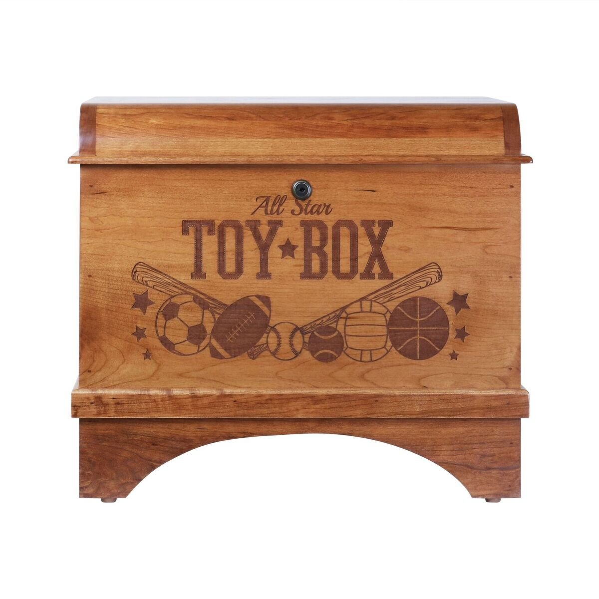 Toy Box Storage Hope Chest for Children's Birthday gift ideas for Daughter Girls, Grandchildren, Granddaughter and Niece Made of Cherry wood with lock Made in USA By Rooms Organized (Toy Box)