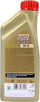 7x1 Liter Castrol Edge Professional A3 0w 40 Mit Titanium Fst Auto