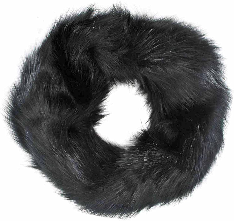Plush Faux Fur Neck Warmer Infinity Scarf