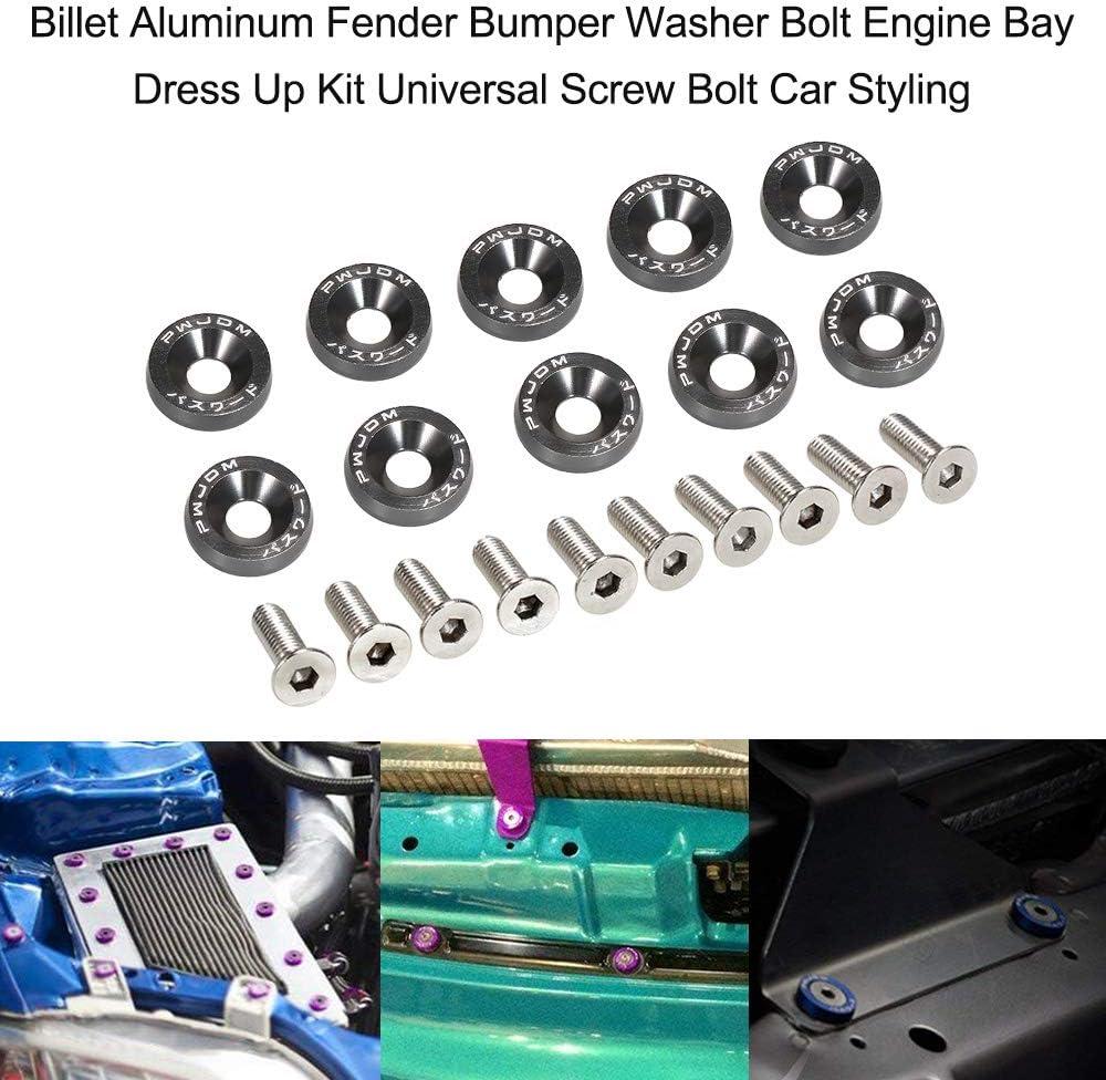 Billet Aluminum Fender Bumper Washer Bolt Engine Bay Dress Up Kit Universal Screw Bolt Car Styling