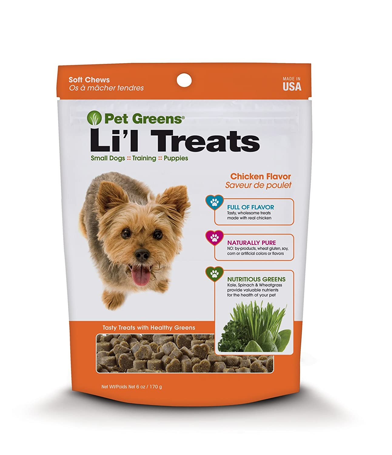 Amazoncom Pet Greens Treats Roasted Chicken Semi Moist Dog Treat