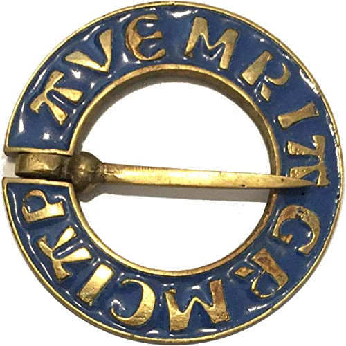 Metal Enamel Pin Badge Brooch Dragon Serpent Mythology Oval