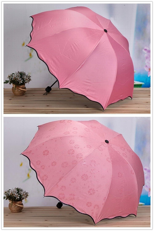 Princesse rose Parapluies pliants Ombrelle Parasol magique l/éger Preuve dUV 8 os parapluie pour les femmes et les hommes