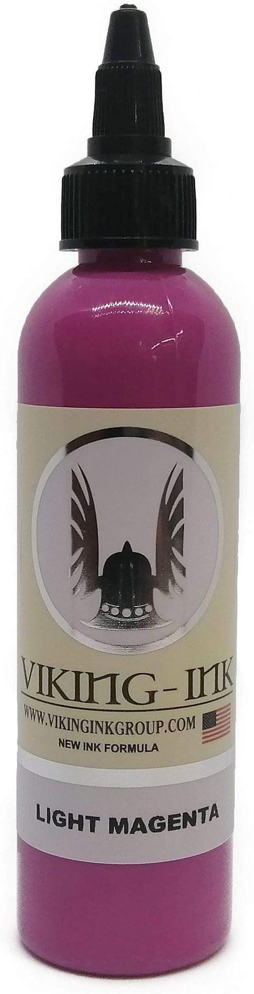Tinta para tatuaje - LIGHT MAGENTA 4oz (120ml) - VIKING INK USA - Los mejores colores y negros en tintas para tatuaje del mercado - VEGANAS
