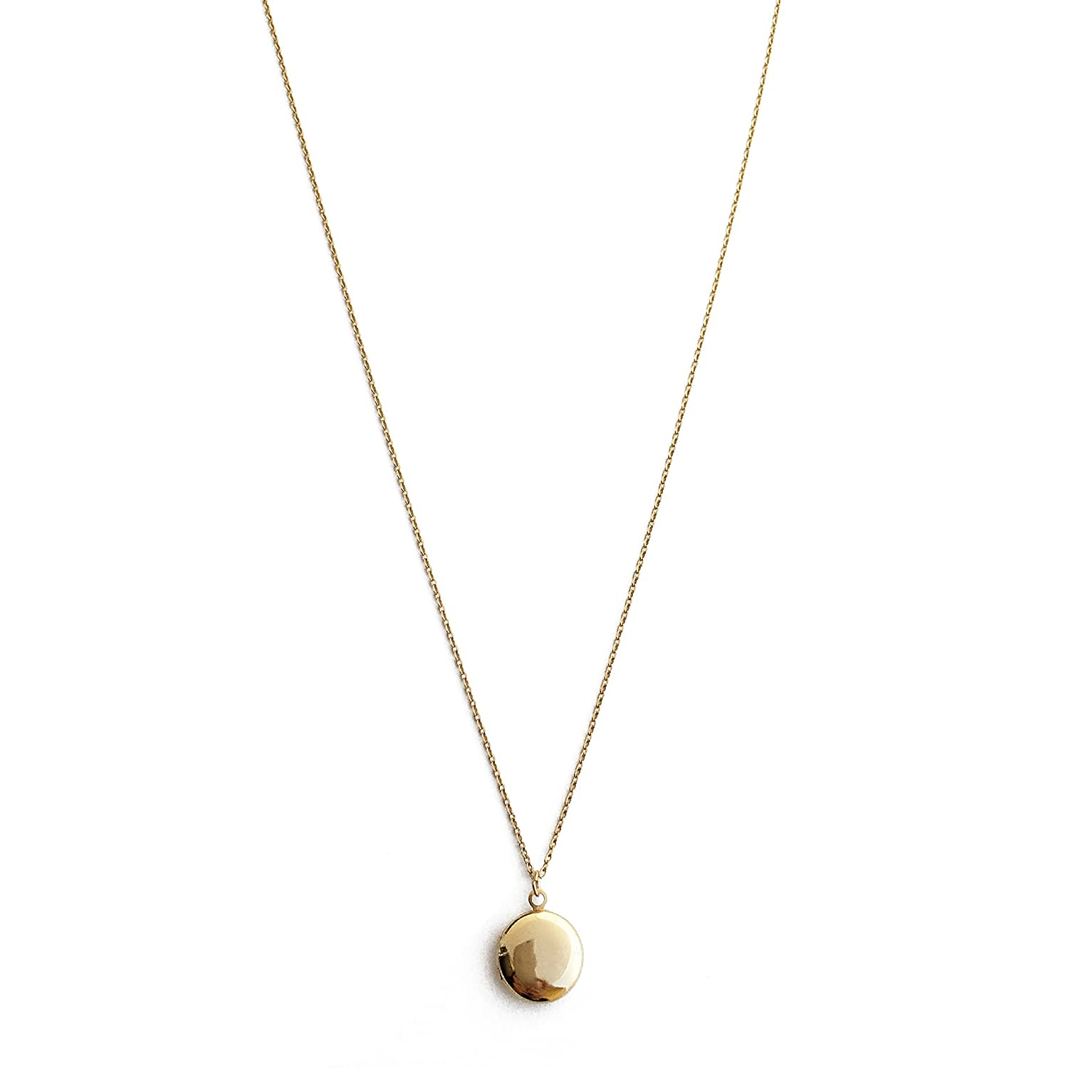 HONEYCAT Keepsake Locket Necklace in Gold, Rose Gold, or Silver | Minimalist, Delicate Jewelry locket-n-g