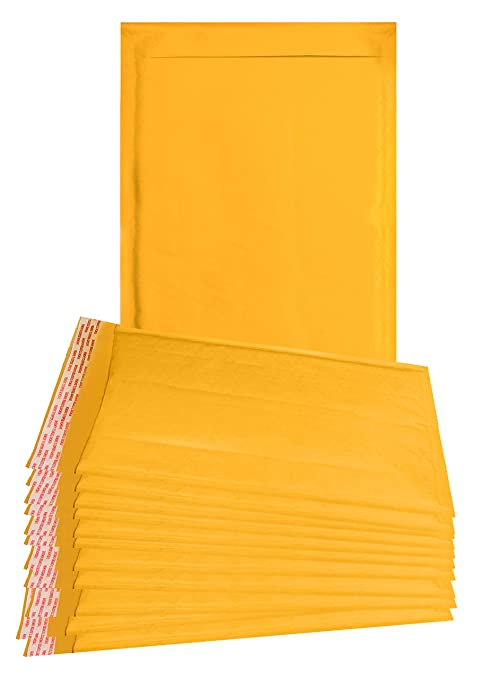 863d507f7de6 25 Pack Yellow Kraft padded envelopes 9.5 x 13 Yellow Bubble Mailers 9 1 2