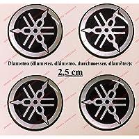 Kit de 4 adhesivos resinados con el emblema/logotipo