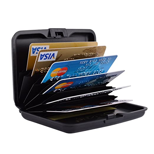 Maxgear rfid credit card holder for women men rfid credit card maxgear rfid credit card holder for women men rfid credit card wallet for travel metal credit reheart Images