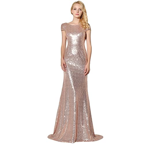 Clearbridal Womens Sequin Evening Dress