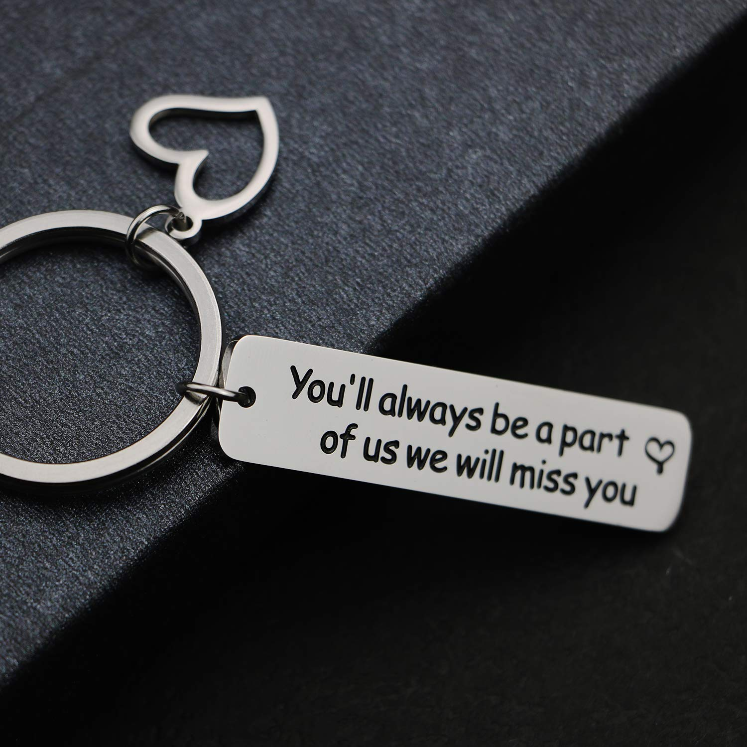 EIGSO Youll Always Be A Part of Us Keychain Retirement Leaving Gift Part of Us
