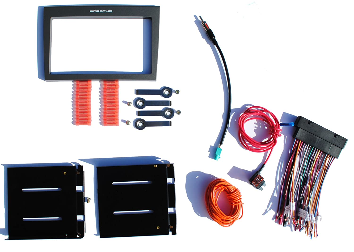 Installation Dash Kit Fits 2005 2008 Porsche Select 997 Radio Wiring Harness 2002 911 987 Models W Factory Bose Aftermarket Double Din Stereo Car Electronics