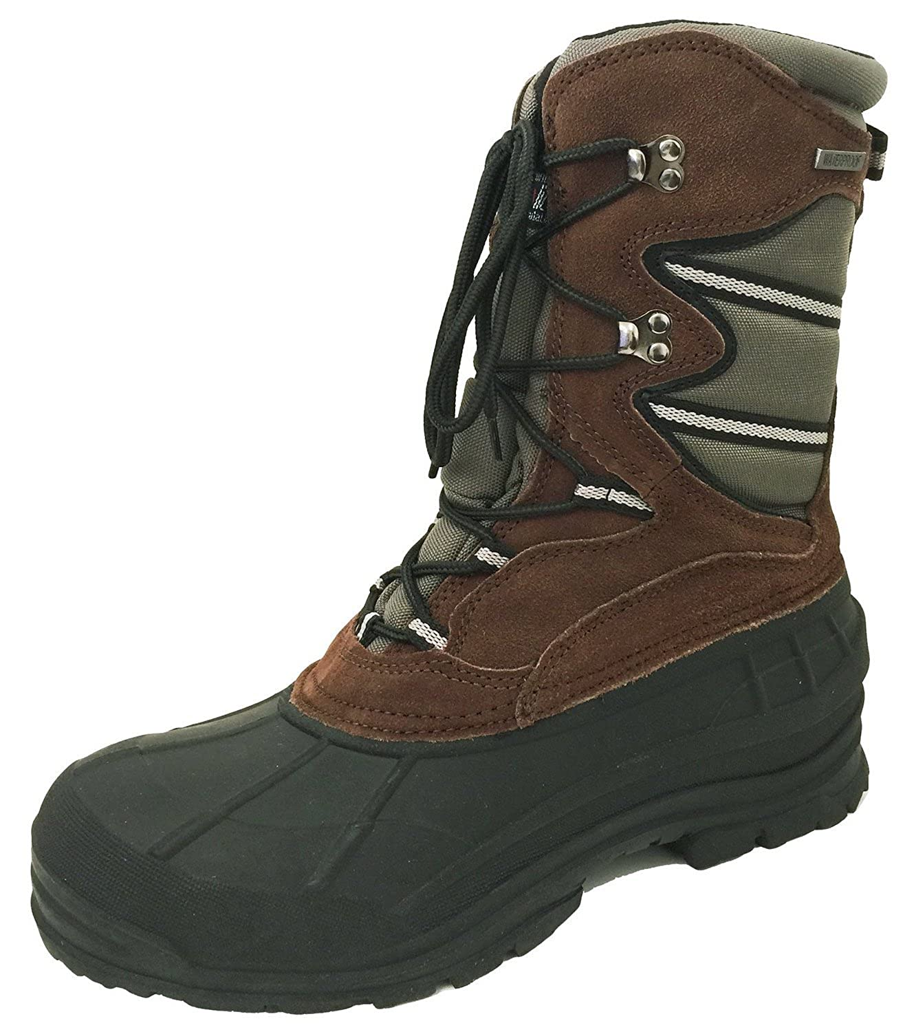 "A09SB Men's Winter Boots Hiking 10"" Cold Weather Waterproof Leather & Nylon Thermolite Insulated Warm Snow Hunting Work Shoes"